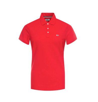 Tommy Hilfiger dámské červené polo tričko