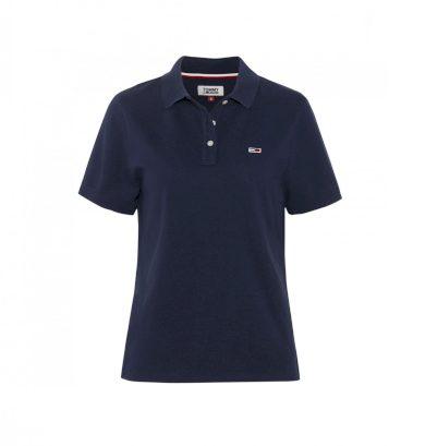 Tommy Hilfiger dámské tmavě modré polo tričko