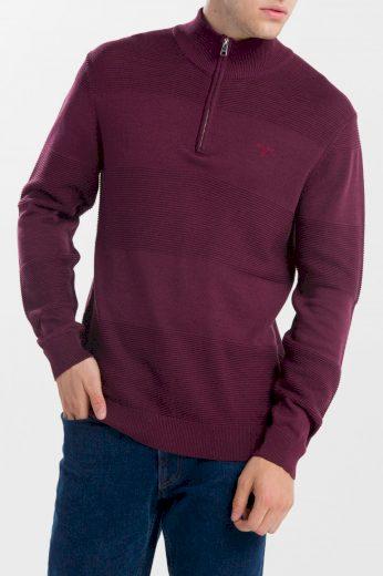 GANT pánský vínový svetr