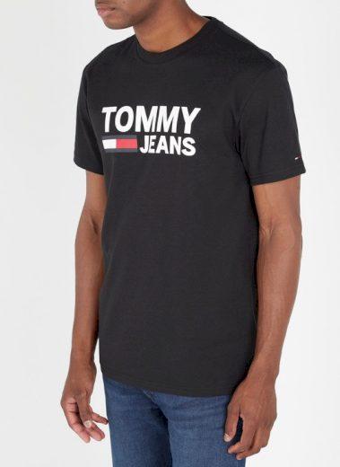 TOMMY JEANS pánské černé tričko