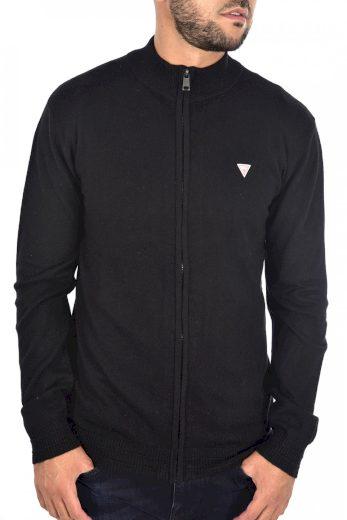 GUESS pánský černý svetr na zip