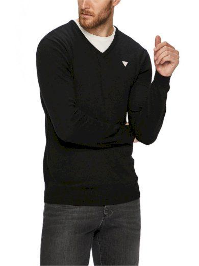 GUESS pánský černý svetr do V
