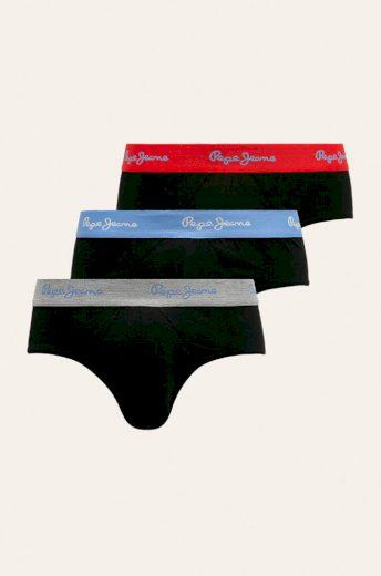 Pepe Jeans pánské spodní prádlo 3 Pack - černé