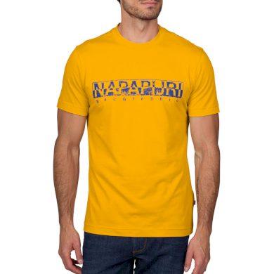 NAPAPIJRI pánské žluté tričko s nápisem