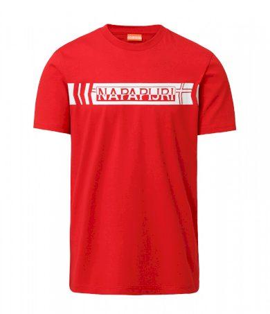 NAPAPIJRI pánské červené tričko s nápisem