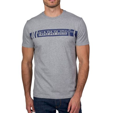 NAPAPIJRI pánské šedé tričko s nápisem
