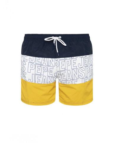 Pepe Jeans pánské žluto modré plavky Erik