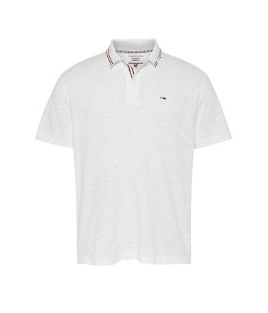 Tommy Jeans bílé polo tričko