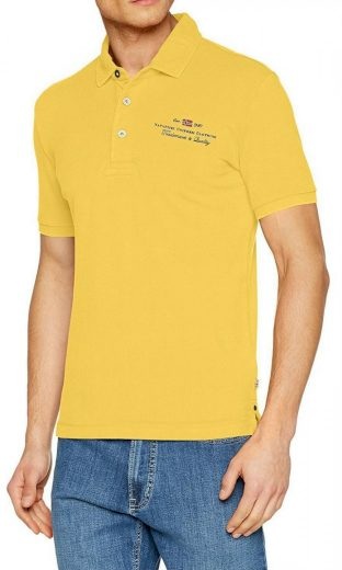 NAPAPIJRI pánské žluté polo tričko Elli