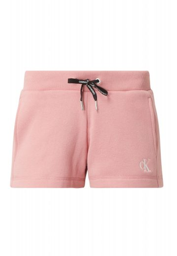 Calvin Klein dámské růžové kraťasy EMBROIDERY REGULAR SHORT