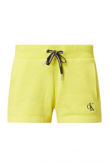 Calvin Klein dámské žluté kraťasy EMBROIDERY REGULAR SHORT