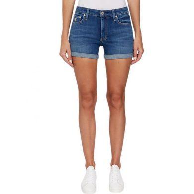 Calvin Klein dámské modré džínové kraťasy MID RISE SHORT