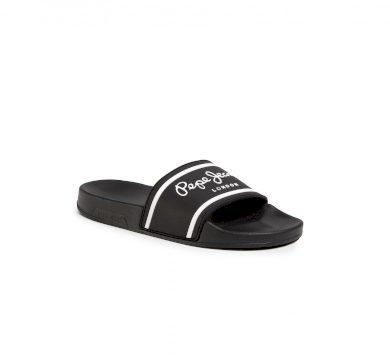 Pepe Jeans pánské černé pantofle Slider Basic Man