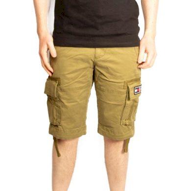 Tommy Jeans pánské zelené kraťasy TJM SOLID CARGO SHORT