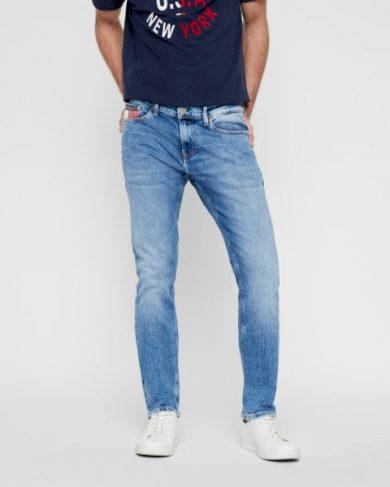 Tommy Jeans pánské modré denim džíny SCANTON SLIM