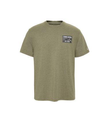 TOMMY JEANS pánské olivové tričko TJM BLACK LABEL TEE