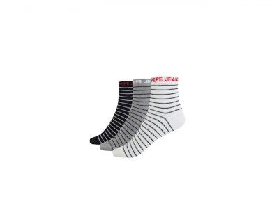 Pepe Jeans dámské kotníkové ponožky Tessy 3 páry