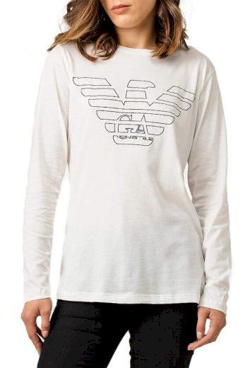 Emporio Armani dámské bílé tričko s dlouhým rukávem