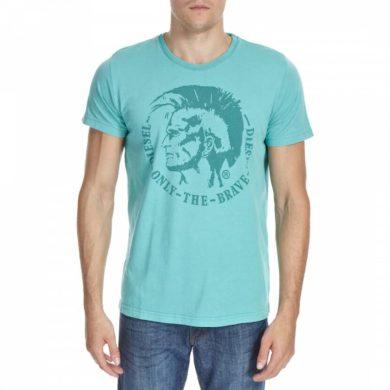 Diesel pánské tyrkysové tričko s krátkým rukávem ACHEL