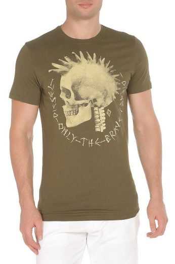 Diesel pánské zelené tričko s krátkým rukávem FEDDO