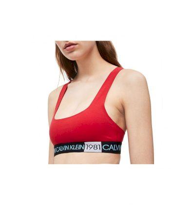 Calvin Klein dámská červená sportovní podprsenka