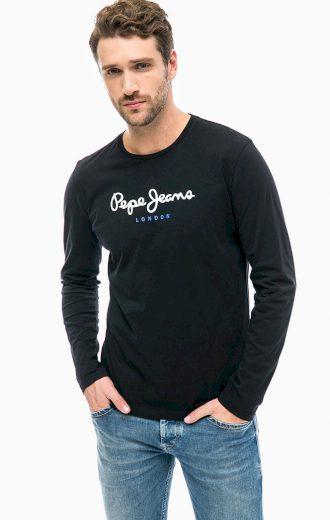 Pepe Jeans pánské černé tričko s dlouhým rukávem EGGO LONG