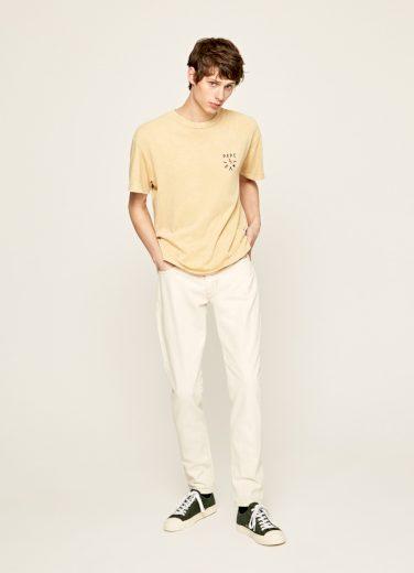 Pepe Jeans pánské žluté tričko Julius