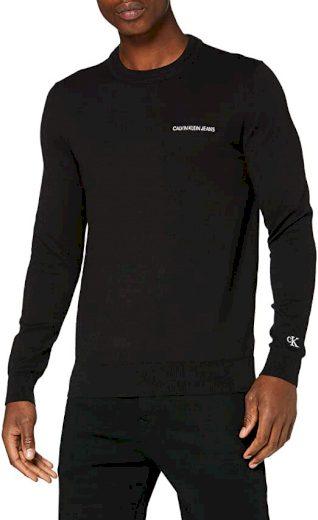 Calvin Klein pánský černý svetr ESSENTIAL CREW NECK SWEATER