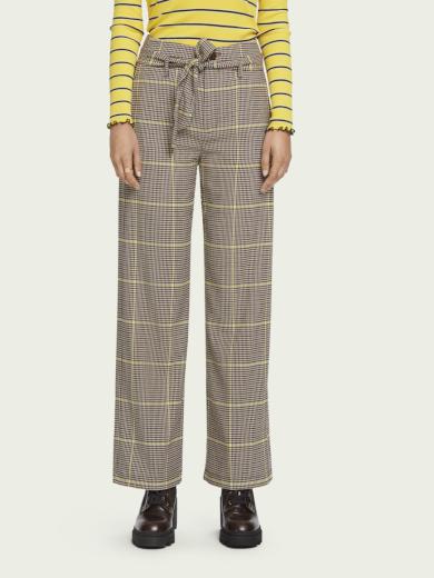 SCOTCH&SODA dámské vysoké kárované kalhoty
