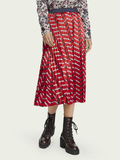 SCOTCH & SODA dámská dlouhá červená sukně