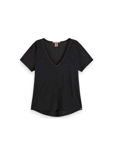 Scotch & Soda dámské černé tričko