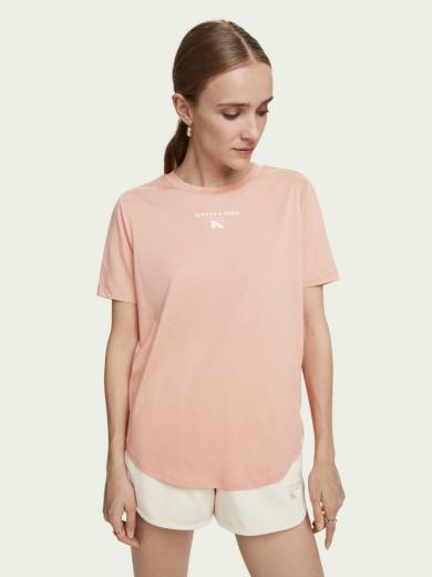 Scotch & Soda dámské růžové tričko