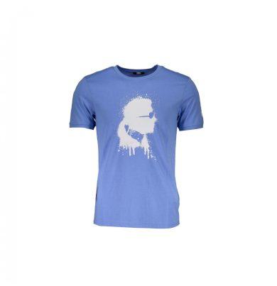 Karl Lagerfeld pánské světle modré tričko s potiskem