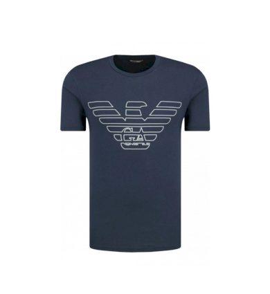 EMPORIO ARMANI pánské tmavě modré tričko