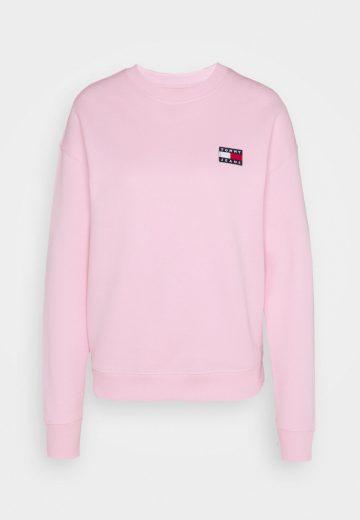 Tommy Jeans dámská růžová mikina BADGE CREW