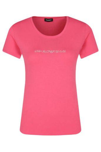 Emporio Armani dámské růžové tričko