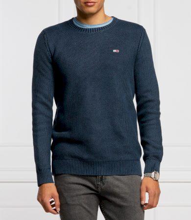 Tommy Jeans pánský tmavě modrý svetr TJM ESSENTIAL WASHED SWEATER