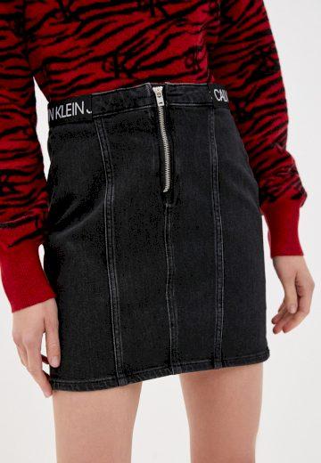Calvin Klein dámská černá džínová sukně DART SKIRT