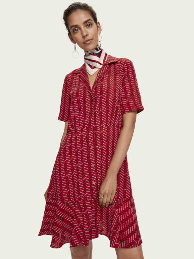 SCOTCH & SODA dámské červené šaty