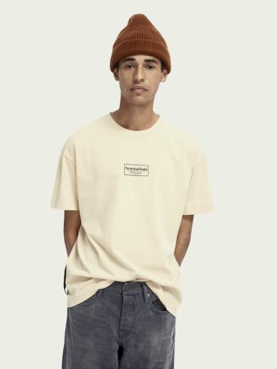 SCOTCH & SODA pánské krémové tričko