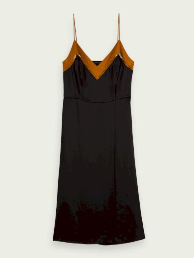 SCOTCH & SODA dámské tmavě modré šaty na ramínka