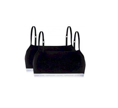 Calvin Klein dámská černá podprsenka UNDERLINED BRALETTE 2PK - 2 ks v balení - CK ONE
