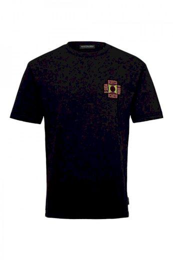 SCOTCH & SODA pánské černé tričko