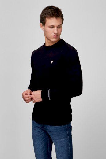GUESS pánský černý svetr