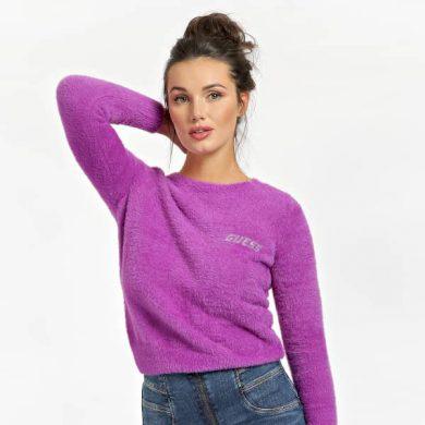 GUESS dámský fialový svetr ROSMARY