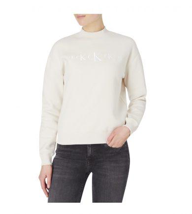 Calvin Klein dámská béžová mikina CK ECO CN