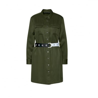 Calvin Klein dámské zelené šaty UTILITY SHIRT DRESS
