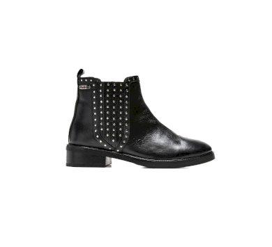 Pepe Jeans dámské černé kožené boty MALDON ESSE