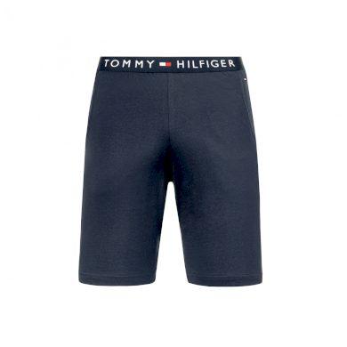 Tommy Hilfiger pánské tmavě modré kraťasy na spaní JERSEY SHORT