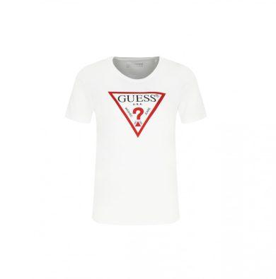 GUESS dámské bílé bavlněné tričko ORGANIC COTTON T-SHIRT